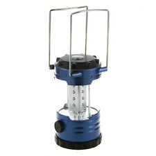 12 LED Portable Camping Camp Lantern Light Lamp with Compass-Blue TS