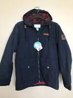 Columbia Hardy Road Hoodie Men's Jacket Navy Blue Size Medium- New