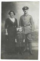 Foto, Soldat in Uniform, Mütze, Frau, Mädchen