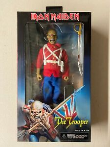 "Neca Iron Maiden The Trooper Eddie Clothed Retro Style 8"" Action Figure"