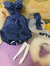 VINTAGE REPRO - REPRODUCTION GAY PARISIENNE BARBIE OUTFIT & ACCESSORIES NICE!