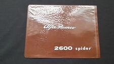 Original old 2600 spider Alfa Romeo Bord-Mappe Folder Pouch Wallet Case