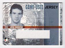 2006-07 ITG Between the Pipes jerseys #GUJ-37 Josh Harding SP # /90  Short Print