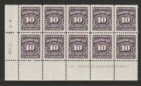 CANADA 1935-65 10c POSTAGE DUE IN BOTTOM LEFT BLOCK No 1 SG D24 MNH.