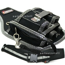Set Work Belt and Handy Electrician Carpenter Tool Pouch
