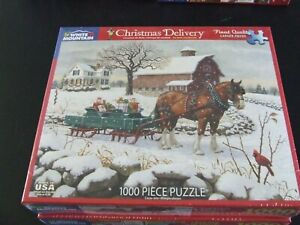 CHRISTMAS DELIVERY   - White Mountain 1000 piece Puzzle  #1475 ~ NEW! SEALED BOX