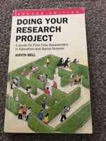 Doing Your Research Project: A Guide for First-time... by Bell, Judith Paperback