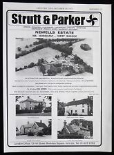 NEWELLS FARM HORSHAM WEST SUSSEX YEW TREE COTTAGE ETC ESTATE AGENT ADVERT 1977