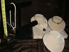 Soft Jewelry Necklace Bracelet/ Ring Display Holder Stand Rack Show Case Set
