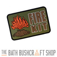 FIRE KIT PVC HOOK & LOOP MORALE PATCH BUSHCRAFT SURVIVAL FIRELIGHTING KITS