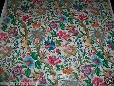 CLARENCE HOUSE MARRAKECH HAND PRINTED TROPICAL JACOBEAN CHINTZ FABRIC 10 YARDS