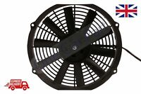 "24V Universal Slim Radiator Fan Push/Pull 319mm x 300mm 11"" Blade 65mm Depth"