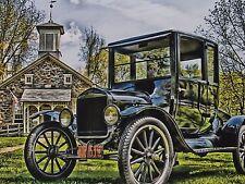 "*Postcard-""Lutz Franklin Schoolhouse""/w/Model T Ford/ (#236)"