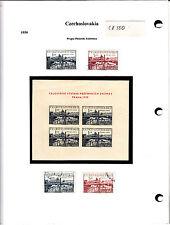 Czechoslovakia Tchécoslovaquie 1950 timbres anciens et blocs lot CZ550