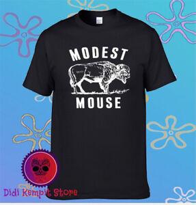 Modest Mouse Logo Men's Black T-Shirt Size S to 3XL