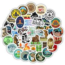 Go Camping 50 Stickers  Hiking Outdoors Adventure Travel Skateboard Luggage