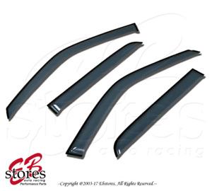 For Porsche Cayenne 2003-2010 Outside-Mounted Ash Grey JDM Window Visors 4pcs