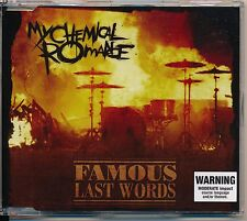 Famous Last Words - My Chemical Romance cd single 3 track rare