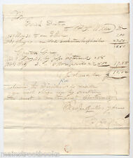 1841 GREENWICH MA QUABBIN TOWN LETTERSHEET Stampless Cover ? Esick Dexter WILCOX