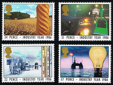 GB (1129 1132) 1986 Technology Year - MINT Set of 4 - PO FRESH!