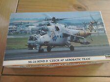 "Hasegawa Mi-24 Hind D ""checo af acrobático equipo helicóptero modelo kit 1:72."