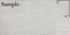 """SAMPLE of 15"""" x 30"""" REFIN Ceramiche ARTE PURA RILIEVI BIANCO Tile Made in Italy"""