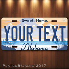 """Alabama YOUR TEXT Personalized Your Way Vanity Aluminum License Plate Tag 6""""x12"""""""