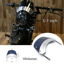 "5-7""Retro Motorcycle Scooter Round Headlamp Fairing Front Windshield Bracket Kit"