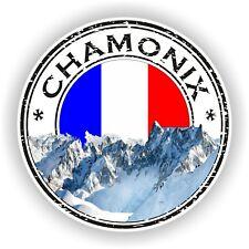 Chamonix Francia Sello Sello Adhesivo Calcomanía Para Coche Camión Nevera Portátil Tablet
