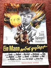 Ein Mann wird gejagt Kinoplakat Poster A1, 1966, Marlon Brando, Jane Fonda