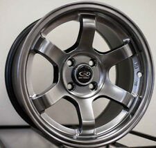 One Rim 15x8 Rota Grid Concave 4x100 +20 Hyper Black Wheel