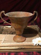 """Rustic Metal Vase Urn Accent Décor w/Handles Farmhouse Decor 11 5/8""""x9 5/8"""""""
