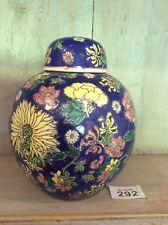 Large Ginger Jar Vase Hand Painted Porcelain Vase