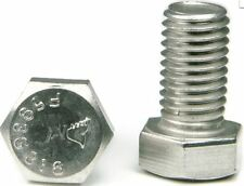 "316 Stainless Steel Hex Cap Screw Bolt FT UNC 5/8 11 x 1"" long, Qty 25"