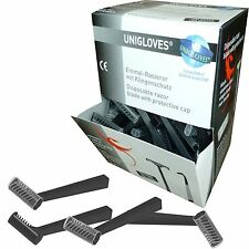 Unigloves Einmalrasierer einschneidig Einweg Rasierer 100 St. Haar Bart schwarz