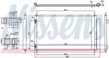 NISSENS 940489 Kondensator, Klimaanlage für TOYOTA