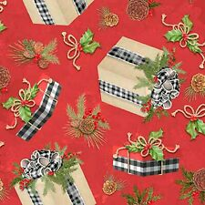 Christmas Presents Cotton Fabric Susan Winget Holiday By the Yard  BFab