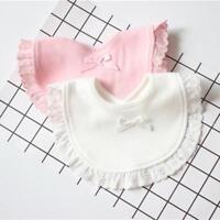 Cotton Newborn Lace Bow Baby Bibs Cute Girls&Boys Burp Cloth Infant Saliva Towel