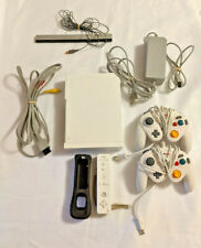 Nintendo Wii RVL 001 White System Console Bundle, Controllers, Charger, Cords