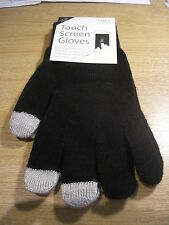 iPHONE TOUCH SCREEN GLOVES SOFT TOUCH TECHNOLOGY BLACK ONE SIZE - BRAND NEW