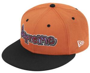 SUPREME HAT *NIB* GONZ LOGO NEW ERA Cap BURNT ORANGE Size 7 5/8 ~BRAND NEW~ SS21