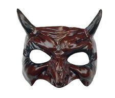 Bloody Red Half Mask Venetian Devil Goblin Demon Costume Accessory Men Women