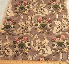 "Antique French 18thC Floral Silk Brocade Fabric~Dolls,Home,Collect ors~35""X14"""