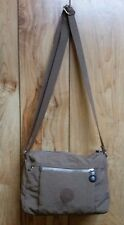 KIPLING Callie Crossbody Shoulder Bag~ Light Brown~ Crinkle Nylon~ Medium