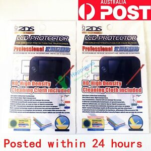 2 X New Clear LCD Screen Protector Film for Nintendo 2DS