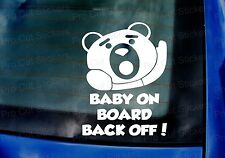 200mm x 150mm Ted Baby on Board Back Off! Lustiger Film Auto Aufkleber Sticker