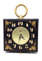 Vintage 1950's GE Telechron 2HA49 Brown and Gold Bakelite Wall Clock 120 Volt AC