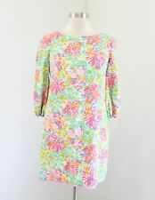 Lilly Pulitzer Little Lilet Cindy Dress Silk Blend Size 0 Pink Green Floral