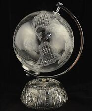 Waterford Crystal World Globe 11-1/2""