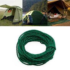 50 Feet Green Reflective Nylon Para Cord High Strength Woven Rope Tent Camping